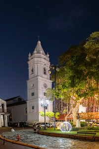 Bailica of Saint Mary on the major plaza in old town Panama City, Panama