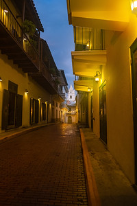 Street in old town, Panama City, Panama