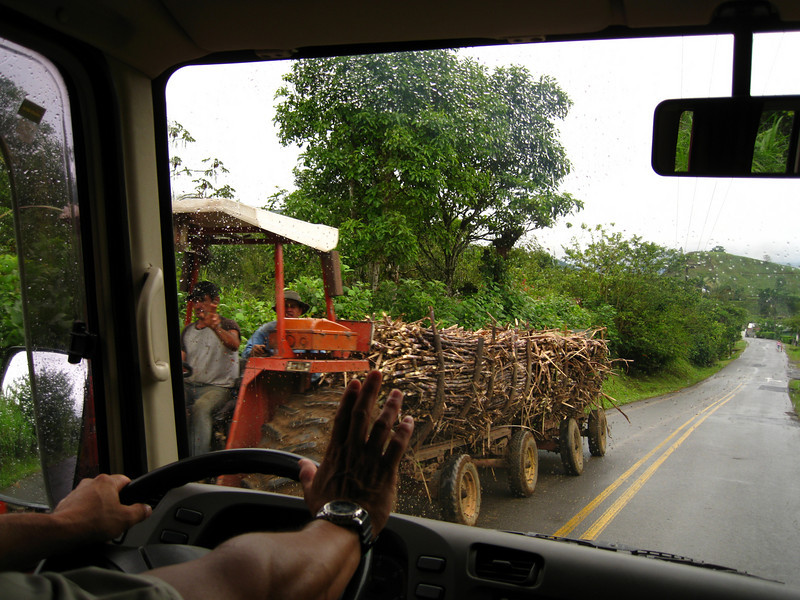 Another way to carry sugar cane to production