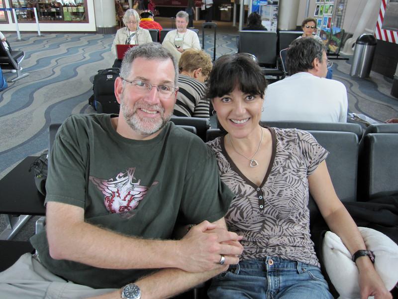Doug and Kristin day of return