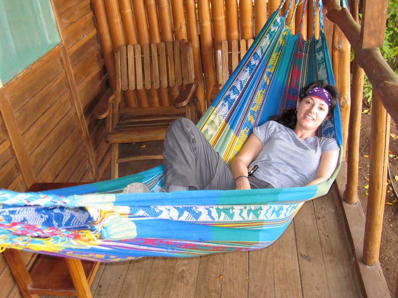 Collapsing in the hammock La Ensenada, CR