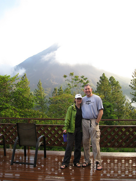 KW and DB at Arenal Lodge
