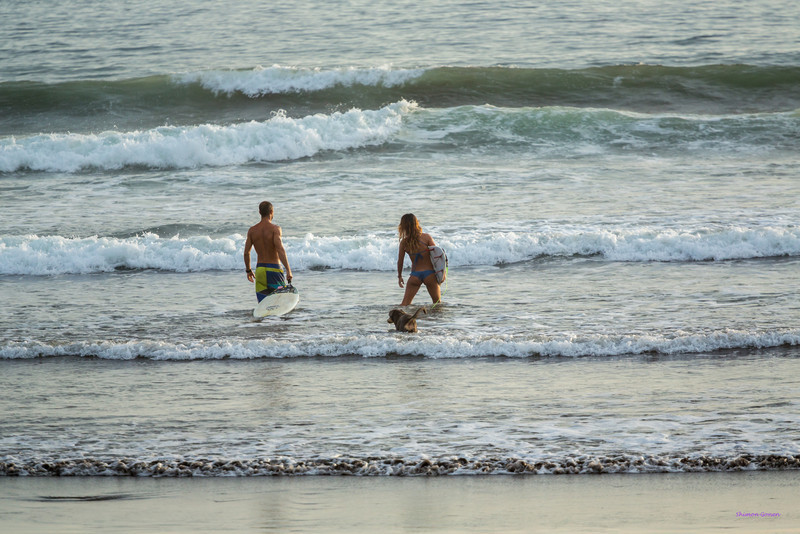 Out to surf - Playa Hermosa