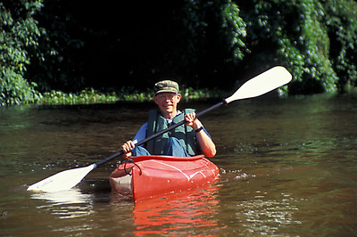© Joseph Dougherty. All rights reserved.  Kayaking in Tortuguero National Park to get up close to the wildlife.