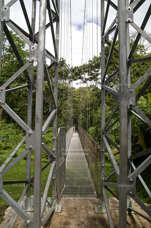 Tayra Bridge - Puente El Tolomuco; Length: 97m, Height: 24m Starting point of the 'Hanging Bridges Canopy Tour' La Fortuna, Arenal, Costa Rica