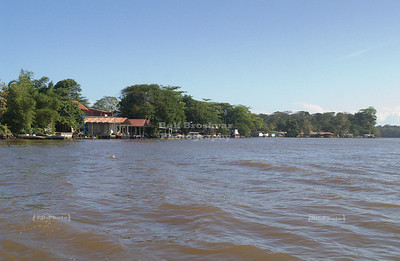 Approaching Tortuguero Village, Costa Rica