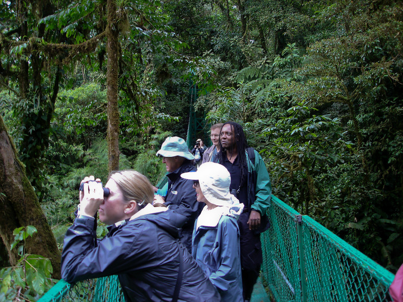 On the Skywalk (Selvatura) with our guide, Eduardo