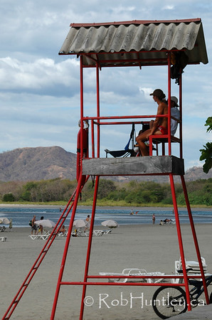 Lifeguard lookout at Playa Tamarindo, Tamarindo, Costa Rica.