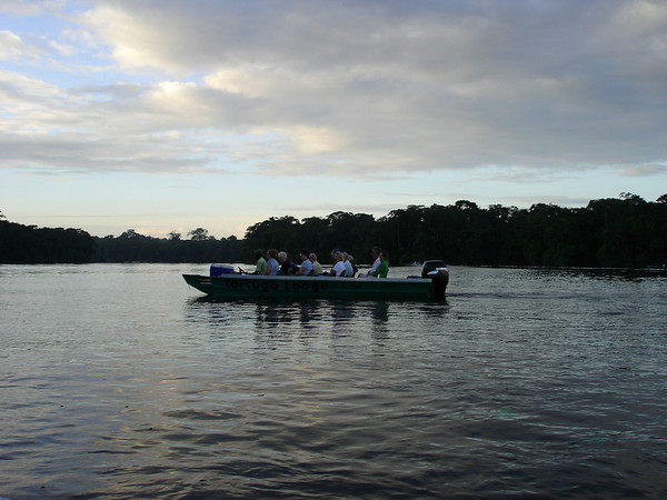 Early morning ride into the Tortuguero jungle