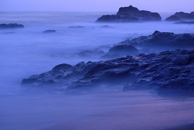 Misty rocks in Jaco, at sunset.