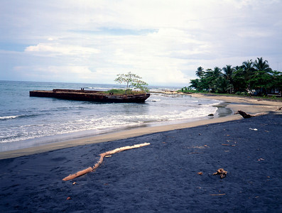 Yin and Yang. Black Sand and White Sand coexisting on the same beach. Puerto Viejo, Costa Rica