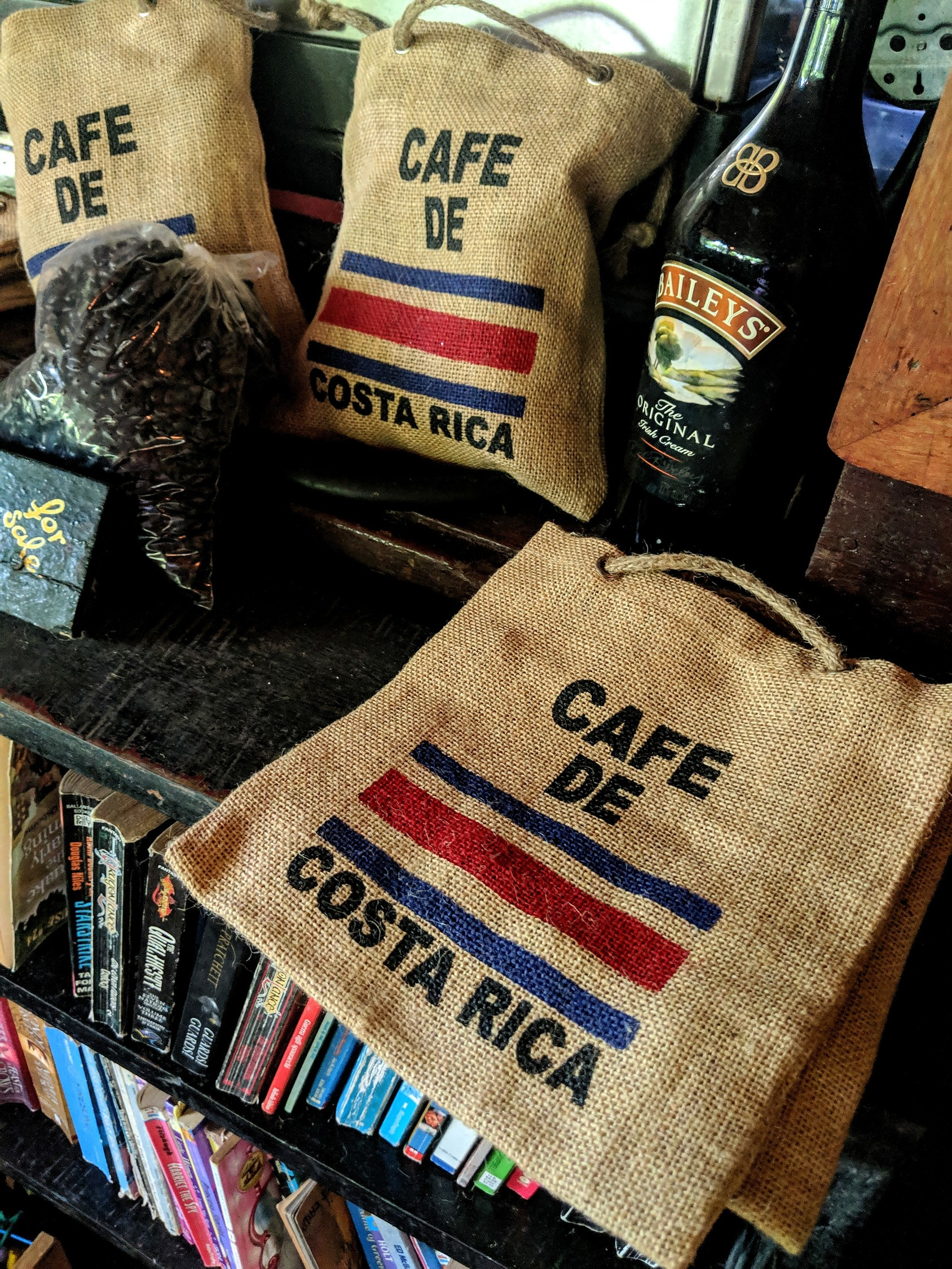 Costa Rica coffee bags.