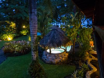 Night falling at the resort