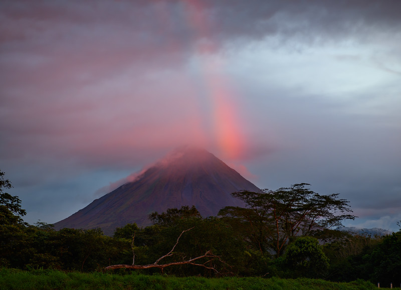 Rainbow over Arenal Volcano