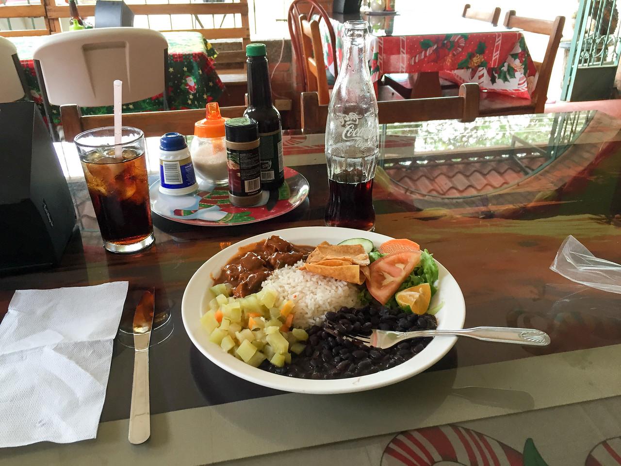 Lunch  in Playas Del Coco, Costa Rica - December 2014