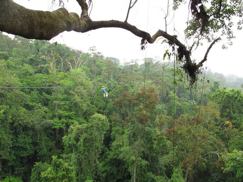 Zip lining near La Fortuna