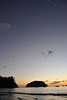 Samara sunset with moon