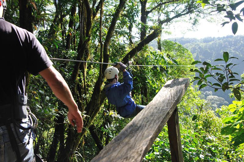 Sylvaine ziplining