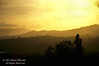Photographer, Sunset over Rain Forest near Arenal Volcano, Costa Rica, Central America