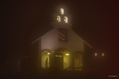 Chapel in Night Fog