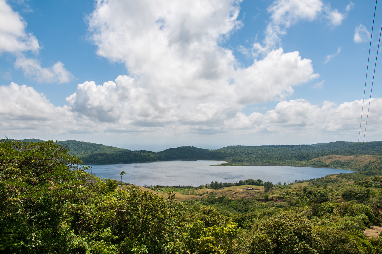 The heart shaped lake, near Arenal. on a Eco tour