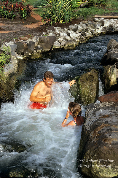 Model Released, Man and Woman, Tabacon Grand Spa Thrermal Resort, Tabacon Hot Springs at base of Arenal Volcano, Costa Rica, Central America