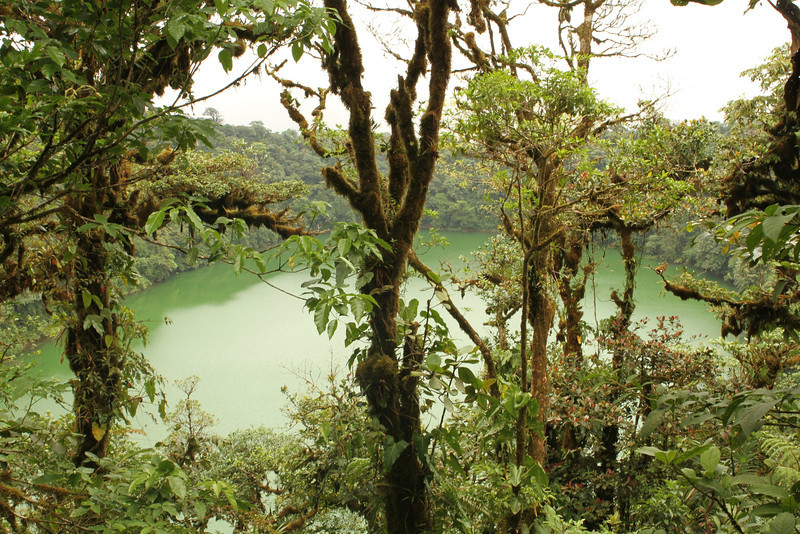 Crater lake of Cerro Chato volcano, Arenal Volcano National Park