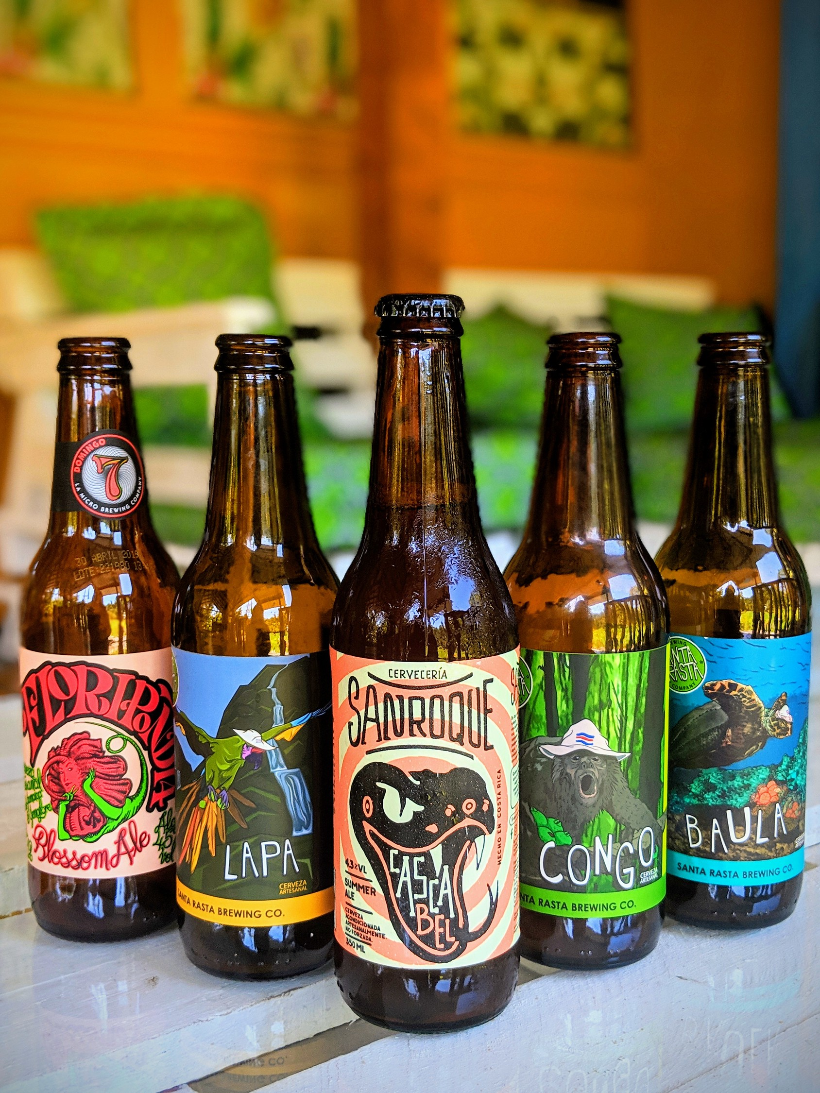 Costa Rican craft beer in Puerto Viejo