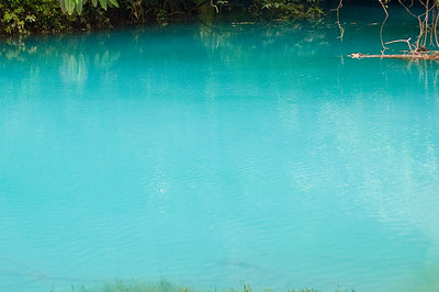 The blue lagoon of Río Celeste, Tenorio Volcano National Park, Costa Rica