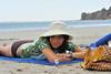 Jessica on Carillo beach