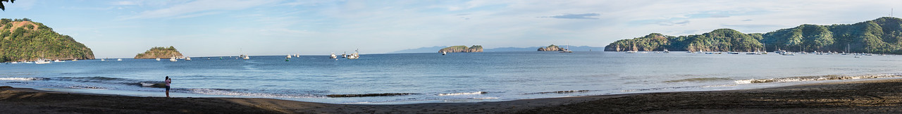 Panoramic of Playas Del Coco, Costa Rica - December 2014