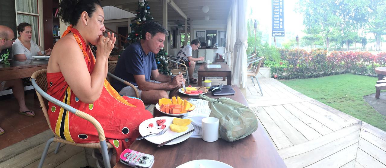 Breakfast at Hotel M&M in Playas Del Coco, Costa Rica - December 2014