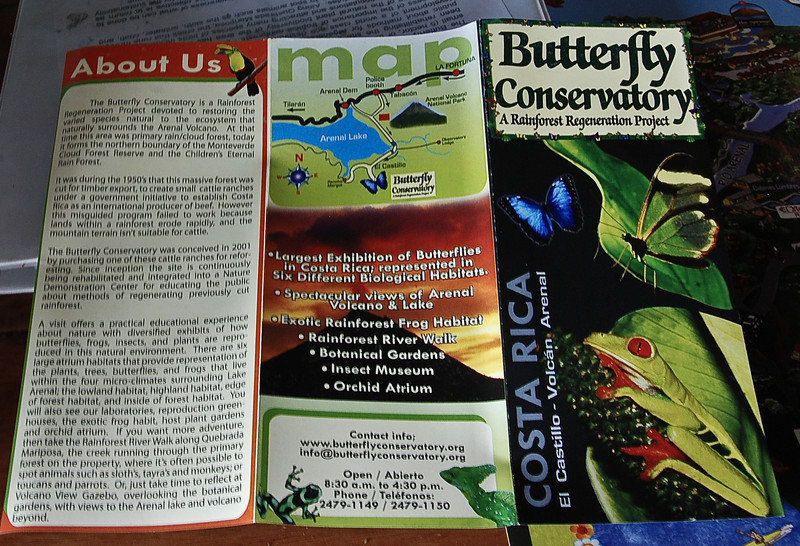 The Butterfly Conservatory brochure.