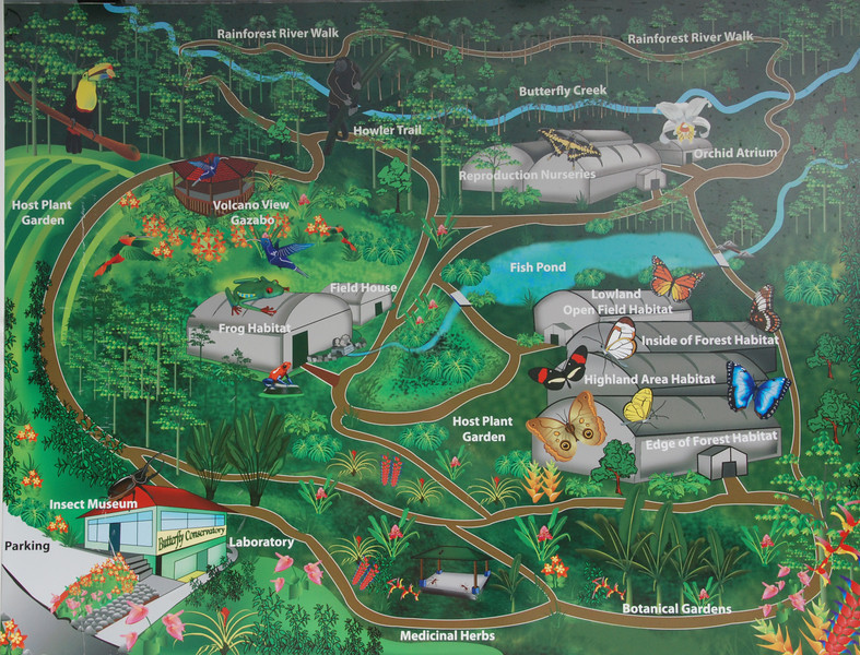Map of The Butterfly Conservatory.