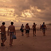 Walking along the beach, heading back to the hotel after a nice afternoon at Cabuya.