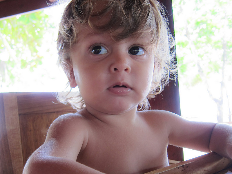 Niqui's son, Kilan.  He could hang out with us 'cause it was co-ed week.