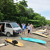 Getting ready to surf at Cabuya.