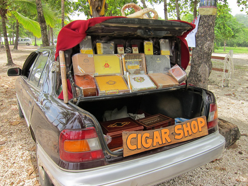 Cigar store.
