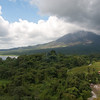 A view from the restaurant at Linda Vista.  The Arenal Volcano.