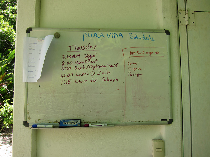 Sign-up near the bodega.  This is the first time my vacation schedule depended on the tide table.