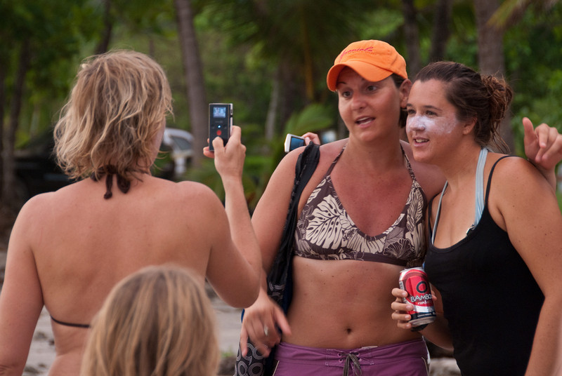 """Tierza generating some media for PVA.  Liz and Ann provide the content.  Some of it may end up here: <a href=""""http://www.puravidaadventures.com/"""">http://www.puravidaadventures.com/</a>"""