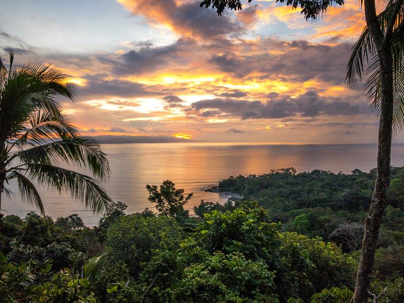 Sunrise, from Lapa Rios, Osa Peninsula