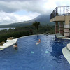 The pool, looking out over Lake Arenal and the volcano.