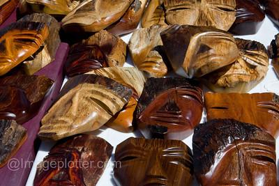 Masks at Market Stall, Costa Rica