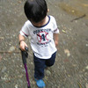 caleb loved using wai poa's walking stick (he'd also play with it at night as a fishing pole)