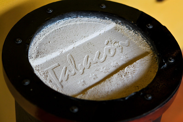 Even the ashtray has their name stamped into it...