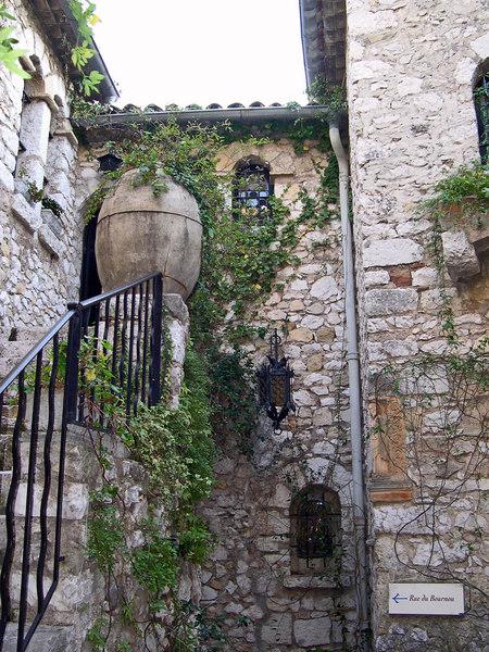 This Urn now serves as a planter outside Medieval villa - Eze - Cote D'Azur - France