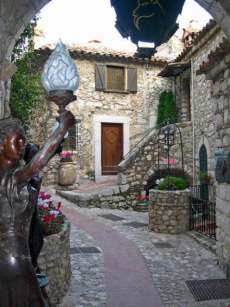 Old winding streets of Eze - Cote D'Azur - France