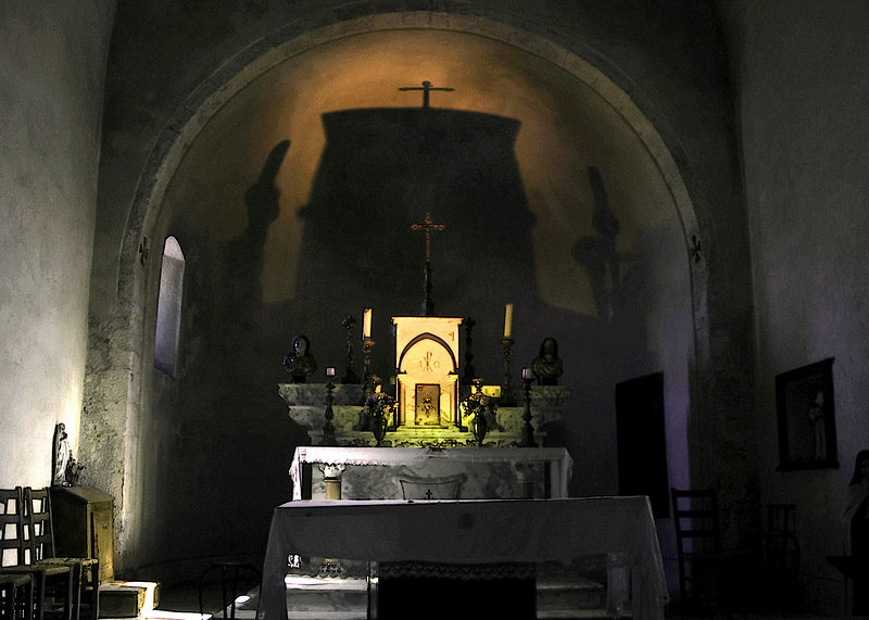 This is an old chapel in Gordon, a town overlooking a gorge in Provence.  The view from the town is spectacular and the town itself is quite charming.