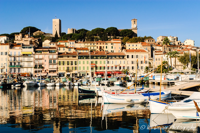 Le Suquet and Cannes Harbour